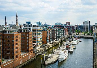 Wohnen in der Hafencity  Hamburg  Deutschland  Europa
