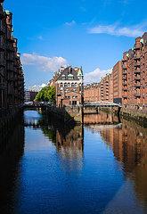 Wasserschloss in der Speicherstadt  Hamburg  Deutschland  Europa