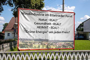 Protest gegen Windräder