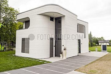 deutschlandweit erstes Wohnhaus aus einem 3D-Drucker