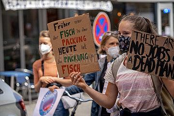 Fridaysforfuture Demonstration in München