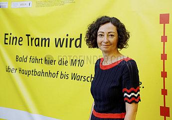 erster Spatenstich: Praesentation neuer Strassenbahnlinien durch den Stadtteil Moabit  11. August 2021  Berlin