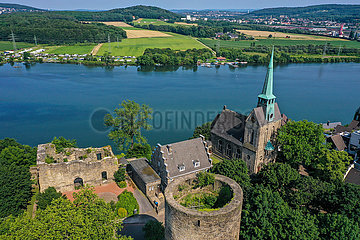 Burg Wetter am Harkortsee  Wetter an der Ruhr  Ruhrgebiet  Nordrhein-Westfalen  Deutschland