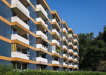 Wohnblock  Mietshaus  Mietwohnungen  Wetter an der Ruhr  Ruhrgebiet  Nordrhein-Westfalen  Deutschland