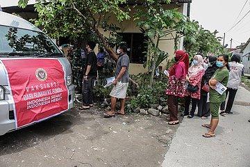 INDONESIEN-MEDAN-COVID-19-MOBILE IMPFUNG