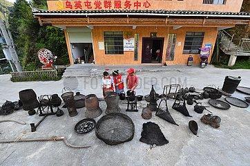 CHINA-GUANGXI Wuying-Village-SCHUL SOMMERURLAUB (CN)