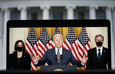 US-WASHINGTON-D.C. PRÄSIDENT-Rückzug aus Afghanistan-SPEECH