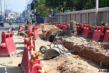 Sri Lanka-Colombo-Quarantäne-Curfew-Arbeiter