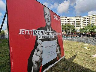 SPD-Wahlplakat in Berlin-Kreuzberg
