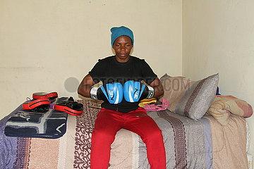 ZIMBABWE-HARARE-FEMALE BOXER