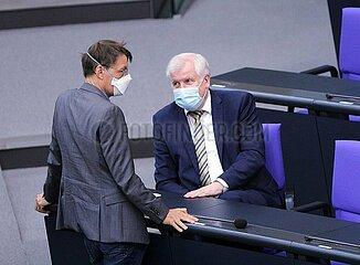 Karl Lauterbach und Horst Seehofer