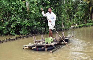 Indien-Assam-Flut