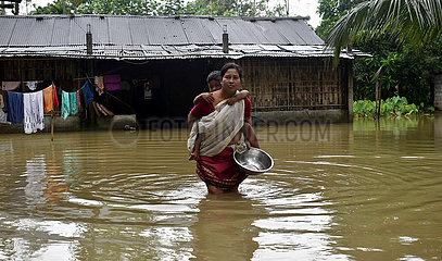 Indien-Assam-Flood India-Assam-Flut