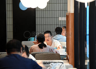 China-Henan-Zhengzhou-Covid-19-Innen-Esszeit-Wiederaufnahme (CN)