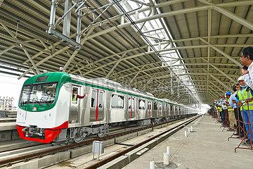 Bangradsch-Dhaka-Metro Rail-Testlauf