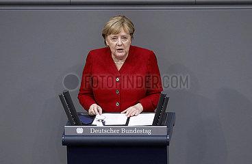 Regierungserklaerung zur Lage in Afghanistan  Bundeswehreinsatz zur Evakuierung aus Afghanistan  Bundestag  Reichstagsgebaeude  25. August 2021