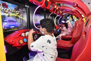 Kuwait-Farwaniya Gouvernement-Covid-19-Kinder-Aktivitäten - Wiedereröffnung