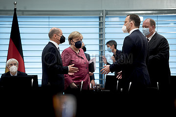 Olaf Scholz  Angela Merkel  Kabinett