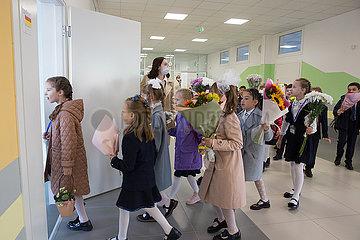 Russland-st. Petersburg-School-New Semester