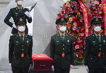 China-Liaoning-Shenyang-Koreanische Kriegs-chinesischer Soldaten-RESTEE-Bestämonie (CN)