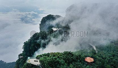 China-Shaanxi-Hanzhong-Berg-Landschaft (CN)