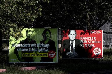 Gruene SPD  Wahlkampf