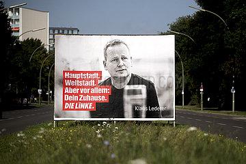 Klaus Lederer  Wahlplakt