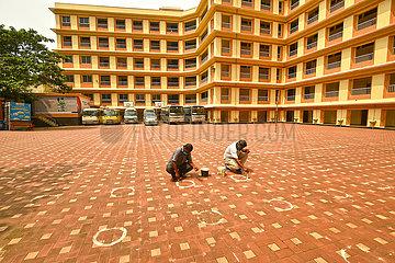 Bangladesch-Dhaka-Schule-Wiedereröffnung-Vorbereitung