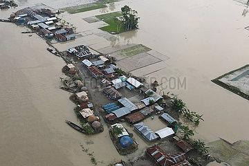 Bangladesch-Bogura-Flut