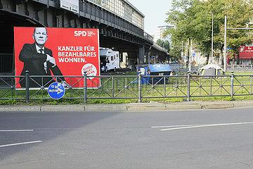 SPD Wahlplakat in Berlin