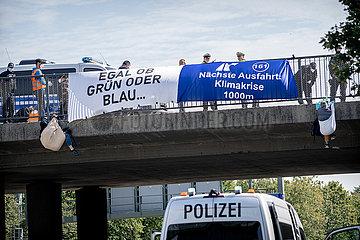 Blockadeaktion auf der A94 anlässlich der IAA