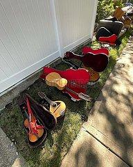 U.S.-New York-IDA-Überschwemmungen-Musiker familiäre Verluste