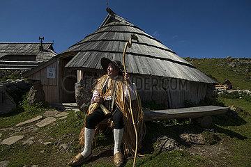 Slowenien-Kamnik-Velika Planina-Landschaft