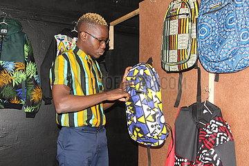 Simbabwe-Harare-Mode-Unternehmer-Afrikanische Druckstoff