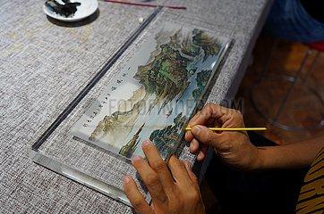 (MasterofCrafts) China-Hebei-Hengshui-innen Gemälde-Inheritor (CN)
