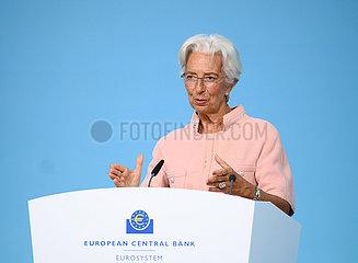 Deutschland-Frankfurt-EZB-Pressekonferenz