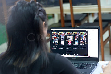 Thailand-Bangkok-Covid-19-Online-Klasse