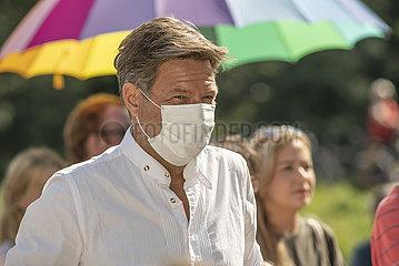 Robert Habeck  Die Gruenen  Wahlkampf Rosenheim  September 2021