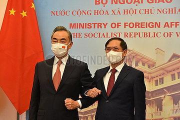 Vietnam-Hanoi-FM-China-Wang Yi-Treffen