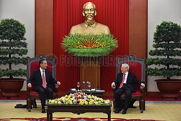 Vietnam-Hanoi-General Secretary-China-Wang YI-Treffen