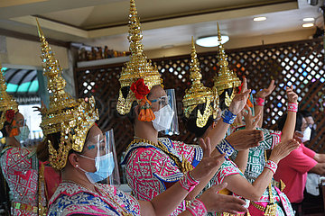 Thailand-Bangkok-Covid-19-Tänzer
