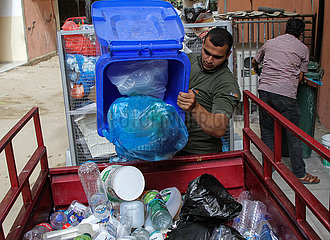 Midest-Gaza-Stadt-Abfall-Sortierung