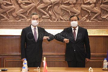 Kambodscha-Phnom Penh-China-FM-Treffen