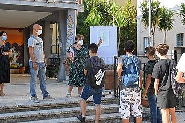 Italien-Rom-Schulen-wiedereröffnet