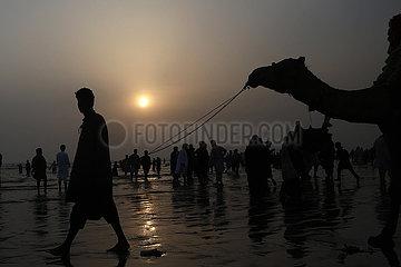 Pakistan-Karatschi-Beach-tägliches Leben