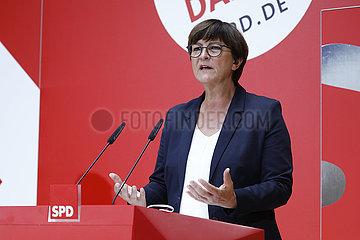 Saskia Esken - Pressekonferenz: SPD nach Triell