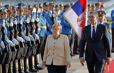 Serbien-Belgrad-Deutschland-Kanzler-Besuch