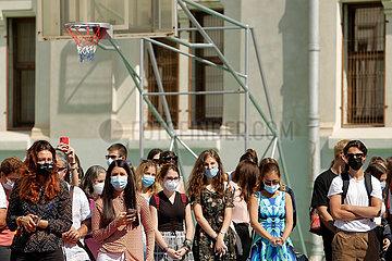 Rumänien-Bukarest-Schulgeböffnung