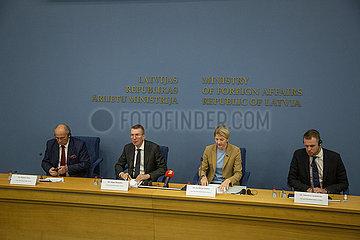 Latvia-Riga-Baltic Polnische Minister-Treffen