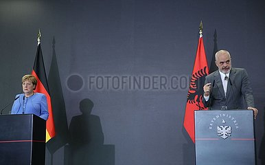 Albanien-Tirana-PM-Deutschland-Merkel